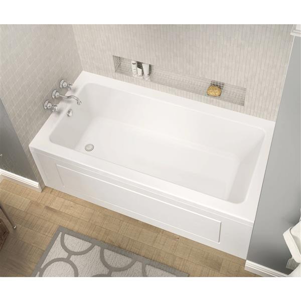 MAAX Skybox 36-in x 72.25-in Acrylic Bathtub with Left Drain