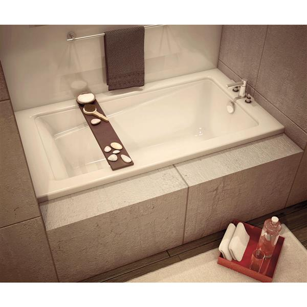 MAAX New Town 32-in x 59.75-in White Bathtub with Left Drain