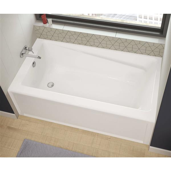 maax new town 32-in x 59.75-in acrylic bathtub with right drain | rona