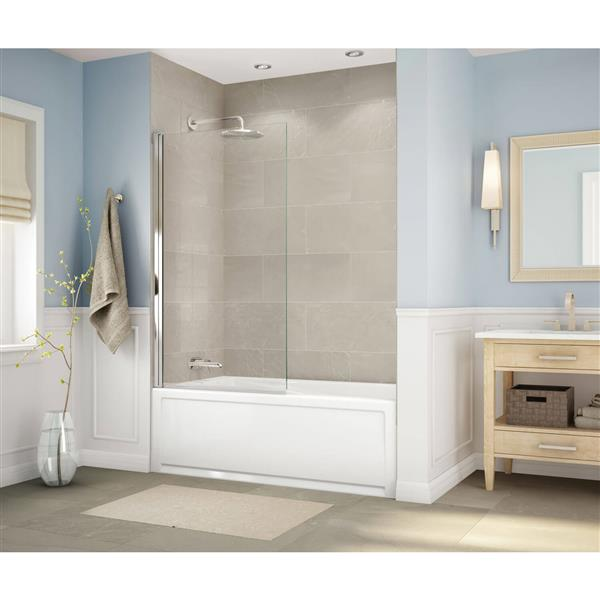 MAAX New Town 32-in x 59.75-in Acrylic Bathtub with Right Drain