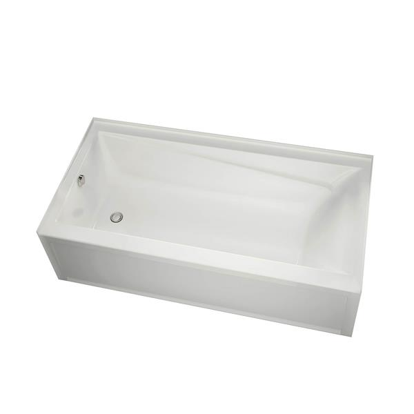 MAAX New Town 32-in x 59.75-in Acrylic Bathtub with Left Drain