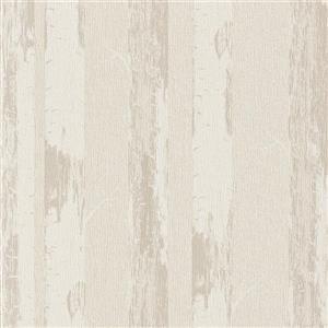 Walls Republic Ivory/Grey Contemporary Metallic Birch Wallpaper