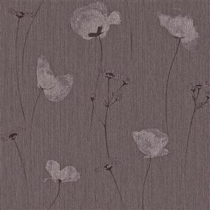 Papier peint pérenne florale, violet
