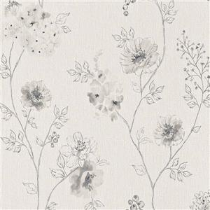 Walls Republic Purple Non-Woven Paste The Wall Floral Sketched Dainty Wallpaper