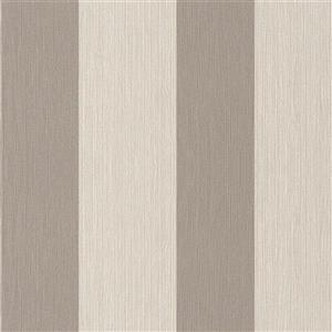 Walls Republic Striped 57 sq ft Grey/Beige Unpasted Wallpaper