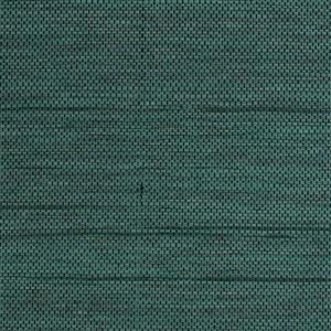 Wall Republic Honeycomb 57sq ft Green and Black Grasscloth Unpasted Wallpaper