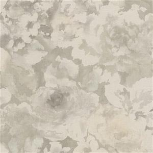 Walls Republic 57 sq ft Gray/White Abstract Watercolour Splatters Wallpaper