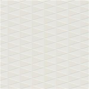 Walls Republic White Modern Geometric Trigonal Non-Woven Unpasted Wallpaper