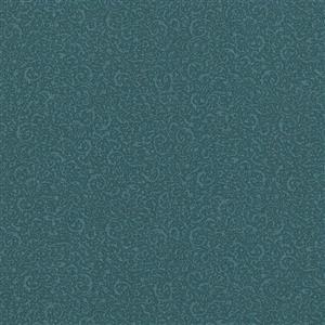 Walls Republic Teal/Blue Classic Swirls Wallpaper