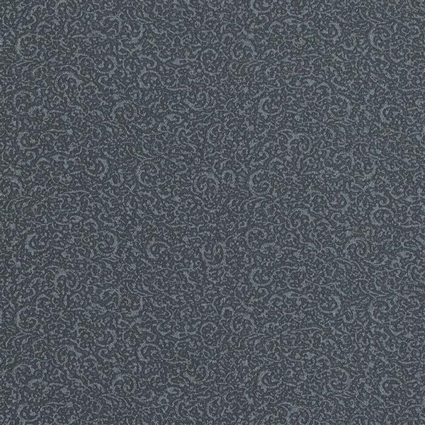 Walls Republic Deep Navy/Blue Classic Swirls Wallpaper