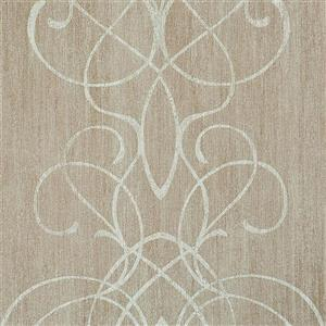 Walls Republic Romantic Taupe Damask Embroid Wallpaper