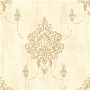 Walls Republic Classic Damask Metallic Wallpaper