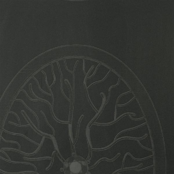 Walls Republic Black Medallion Branch Non-Woven Unpasted Wallpaper