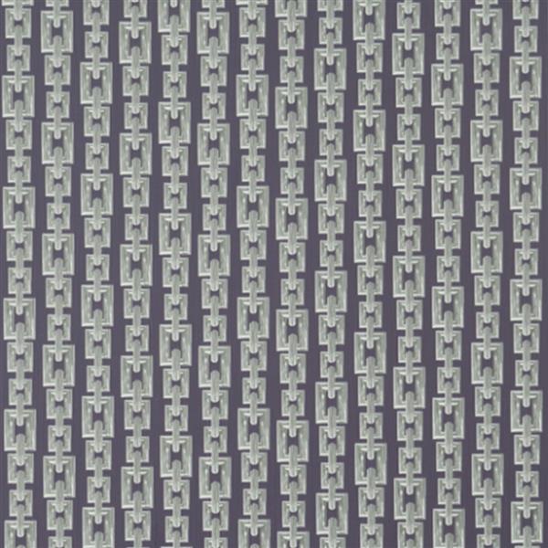 Walls Republic Striped Interlocking Chains 57 sq ft Gray Unpasted Wallpaper