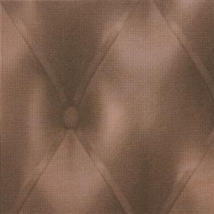 Faux Tufted Leather Wallpaper
