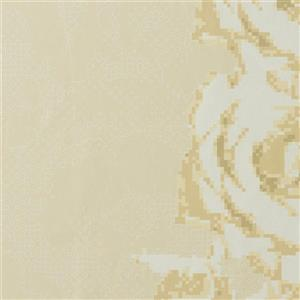 Walls Republic Passion Yellow Striped Floral Wallpaper