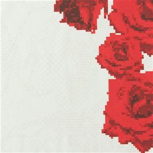 Papier peint florals rayés passion