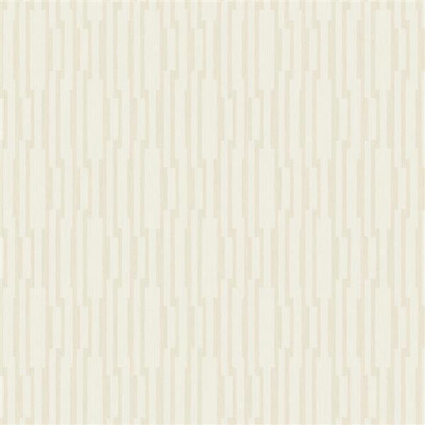 Walls Republic Golden Beige Modern Striped Geometric Non-Woven Unpasted Wallpaper