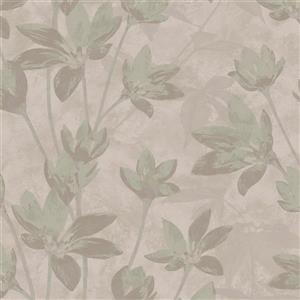 Walls Republic Mauve Modern Floral Metallic Non-Woven Unpasted Wallpaper