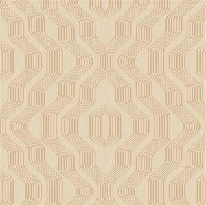 Walls Republic Tan Geometric Non-Woven Paste The Wall Modern Swerve Wallpaper