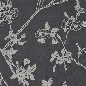 Walls Republic Black Floral Non-Woven Paste The Wall Flora Floral Blossom Wallpaper