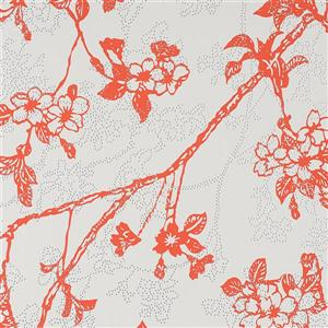 Walls Republic Red Floral Non-Woven Paste The Wall Enchanted Floral Blossom Wallpaper