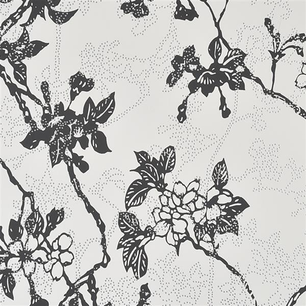 Walls Republic Black Floral Non-Woven Paste The Wall Enchanted Floral Blossom Wallpaper