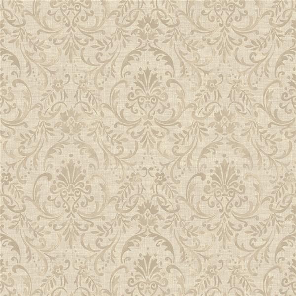 Papier peint florale damassé