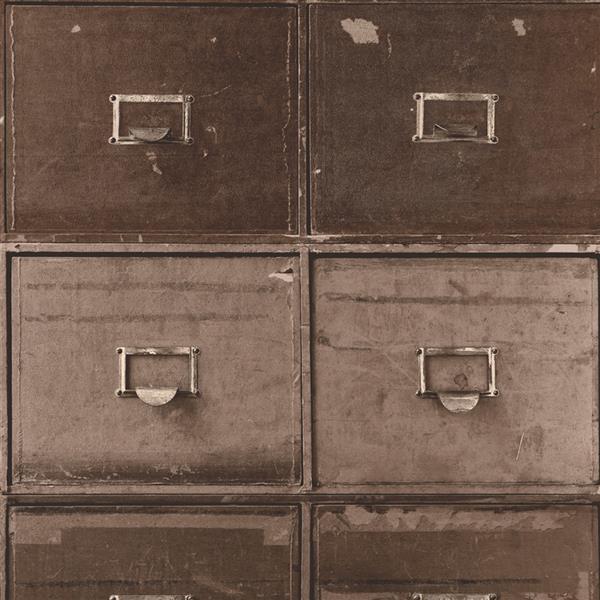 Walls Republic Brown/Brown Contemporary File Cabinet Wallpaper