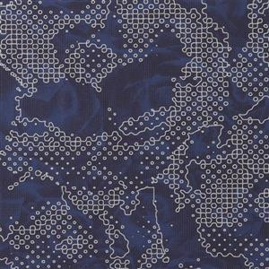 Papier peint géométrique florale aroma