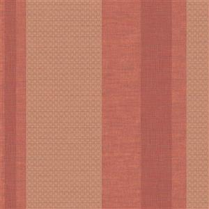 Walls Republic Maroon Art Deco Geometric Striped Non-Woven Wallpaper