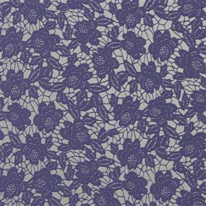 Walls Republic 57 sq ft Purple Classic Floral Lace Wallpaper