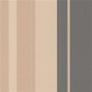 Walls Republic Beige Assorted Stripe Non-Woven Wallpaper