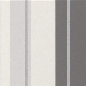 Walls Republic Gray Assorted Stripe Non-Woven Wallpaper