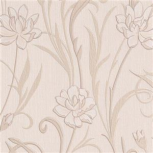 Walls Republic Beige Meadow Non-Woven Unpasted Wallpaper