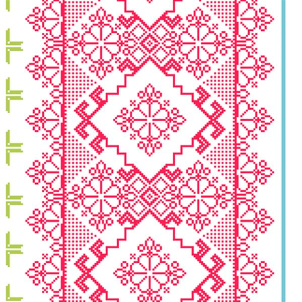 Walls Republic Pink and Green Homey Pattern Unpasted Wallpaper