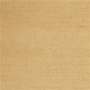 Walls Republic Yellow/Beige Grasscloth Non Woven Paste The Paper Fine Weave Wallpaper