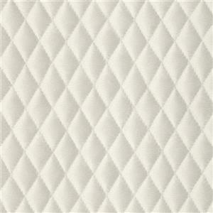 Walls Republic White Geometric Non-Woven Paste The Wall Faux Diamond Cushion Wallpaper