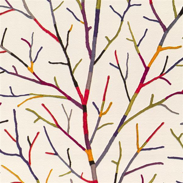 Papier peint en faux branches contemporain