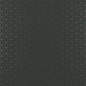 Walls Republic Black geometric Non-Woven Paste The Wall Geometric Contemporary Ring Link Wallpaper