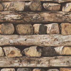 Papier peint à bois, brun/beioge