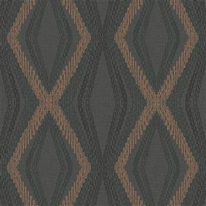 Walls Republic Grey/Brown Diamond Chain Geometric Wallpaper