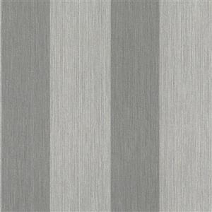 Walls Republic Striped 57 sq ft Light Grey/Dark Grey Unpasted Wallpaper