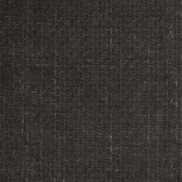Walls Republic Black Natural Basket Grasscloth Non-Woven Unpasted Wallpaper