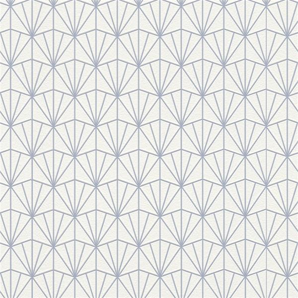 Walls Republic Blue Modern Geometric Fan Non-Woven Unpasted Wallpaper