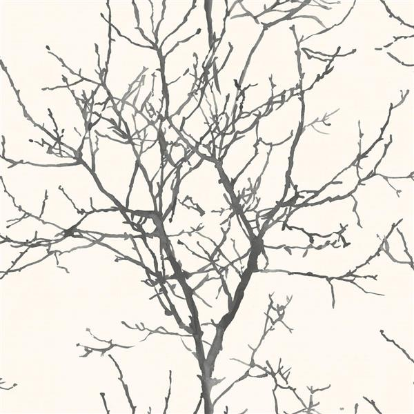 Walls Republic Black Ivy/Vines Non-Woven Painted Tree Silhouette Unpasted Wallpaper