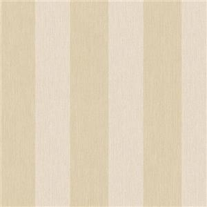 Walls Republic Striped 57 sq ft Light Gold Unpasted Wallpaper