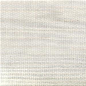 Papier peint en toile de ramie, beige/blanc