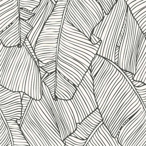 Fond à motif abstrait feuille