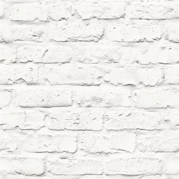 Papier peint en faux briques contemporain